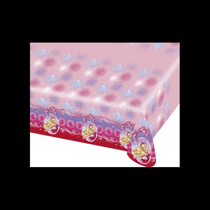 Barbie műanyag asztalterítő,  120*180 cm