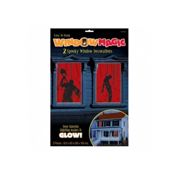 Halloween véres ablakdekoráció 1,65 mx85 cm
