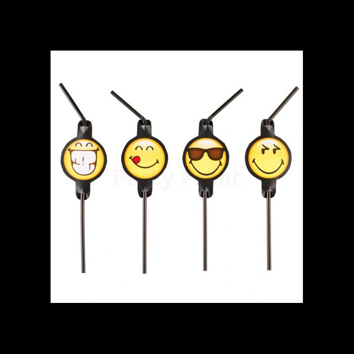 Smiley Emoticons szívószál 8 db/cs