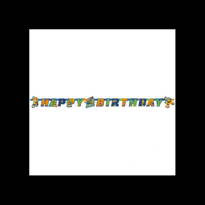 Tini Nindzsa teknőcök Happy Birthday betű felirat 180 x 15 cm