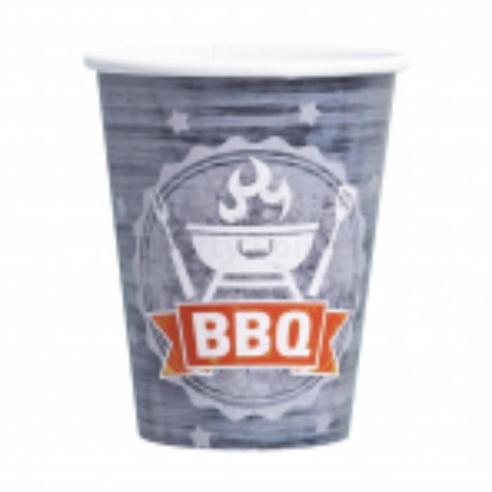 BBQ pohár - 250 ml, 8 db / csomag