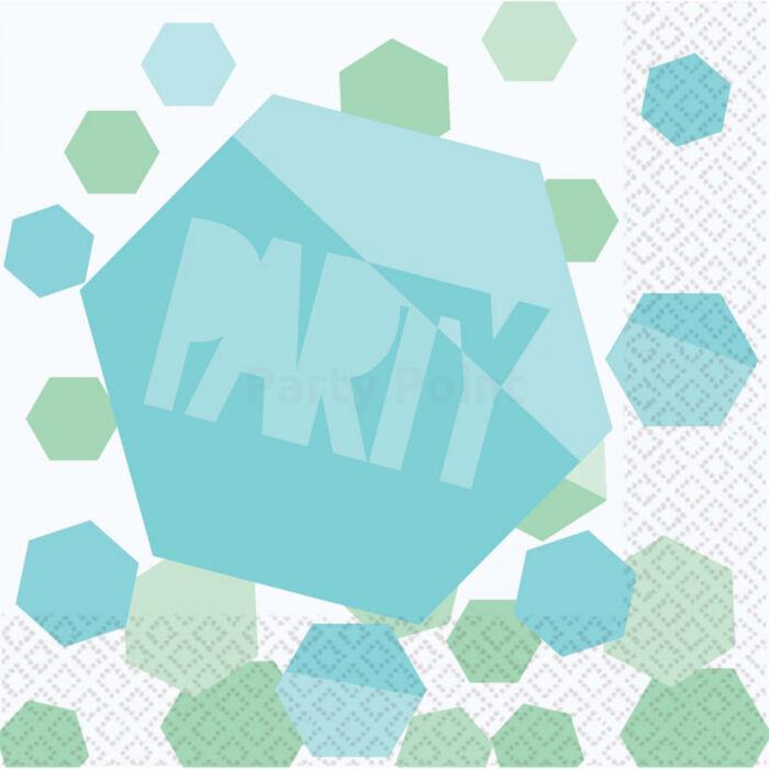 Shimmering Party szalvéta, 33 x 33 cm - 16db