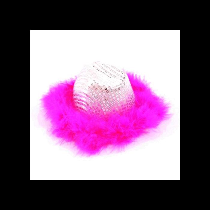 Mini cowboy kalap pink tollal