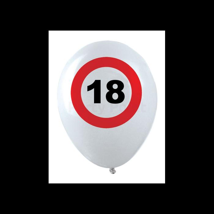 Behajtani tilos 18. születésnapra gumi léggömb 12db/cs