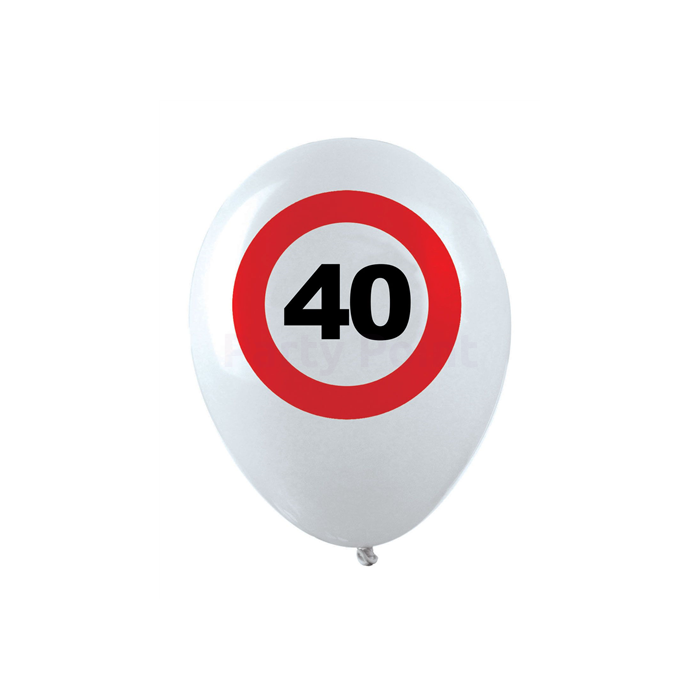 Behajtani tilos 40. születésnapra gumi léggömb 12db/cs.