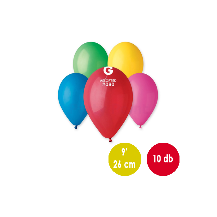 26 cm-es mix gumi léggömb 10 db/cs - 300260