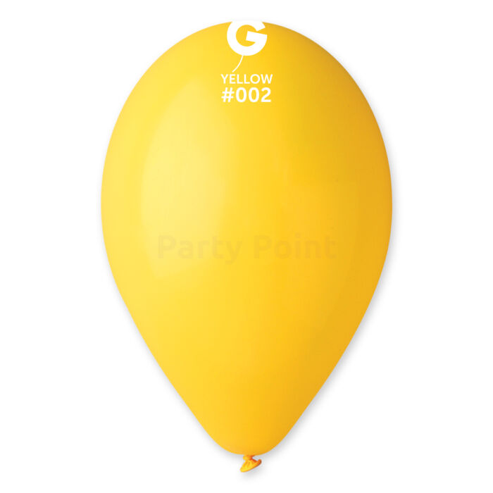 33 cm-es citromsárga léggömb 10 db/cs