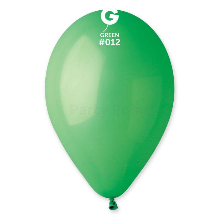 33 cm-es fűzöld gumi léggömb, 10 db