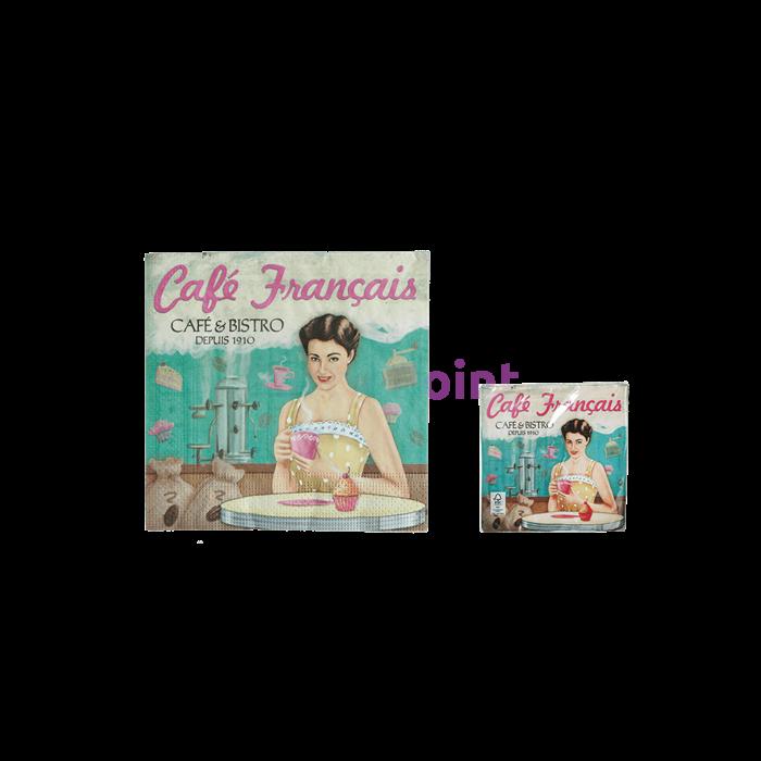 Café Francais szalvéta 33 x 33 cm 3 rétegű 20 db/cs
