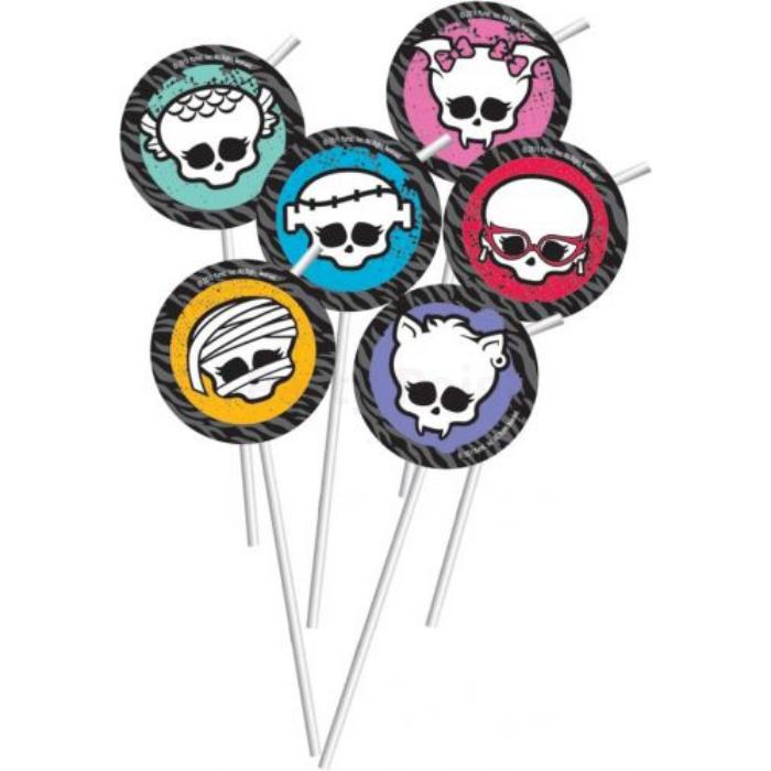 Monster High szívószál 6 db/cs ®