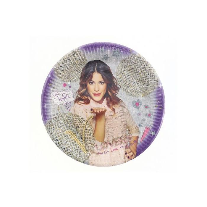 Violetta Gold papír tányér, 23 cm - 8 db