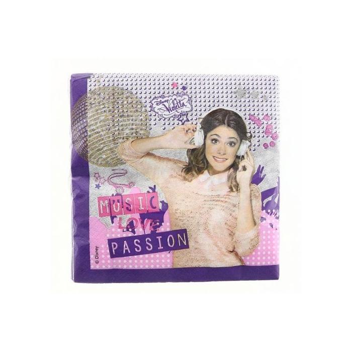 Violetta Gold szalvéta, 33 x 33 cm - 20 db