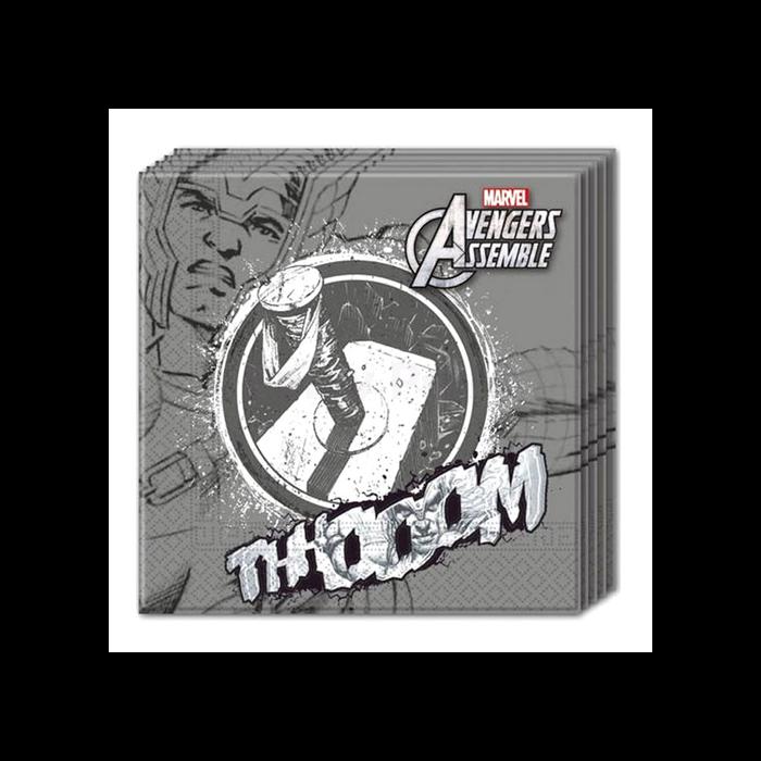 Bosszúállók-Thor szalvéta, 33 x 33 cm - 20 db