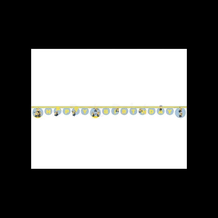 Minion Happy Birthday felirat