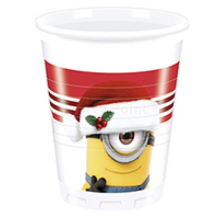 Minion Xmas műanyag pohár 200 ml 8 db/cs
