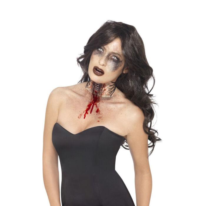 Halloween - Véres torkú zombi mű sebhely