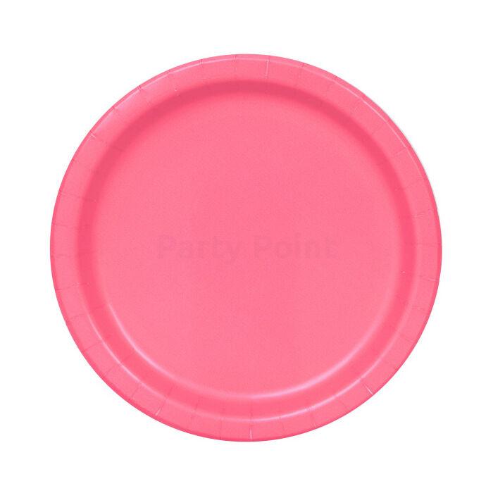 Hot pink tányér 23 cm-es 8 db/cs