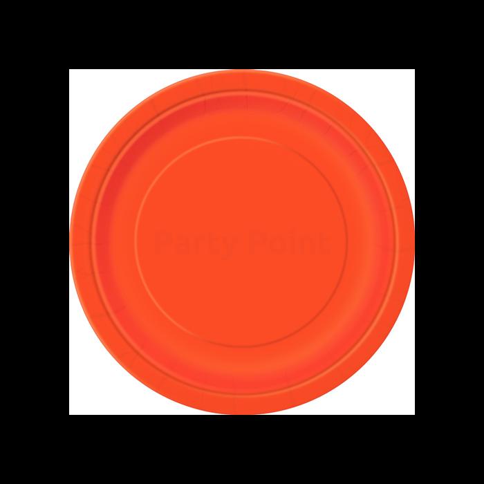 Narancs tányér 23 cm-es, 8 db/cs