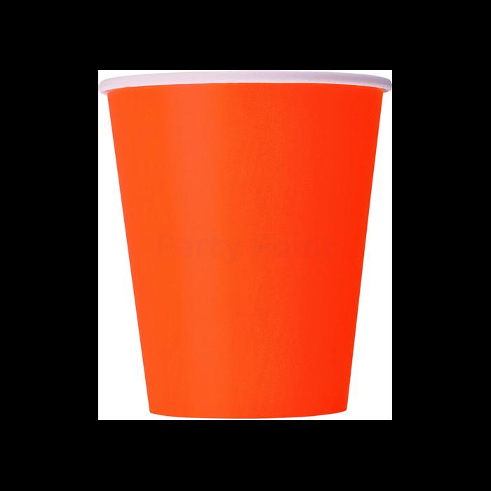 Narancs papír pohár 270 ml 8 db/cs