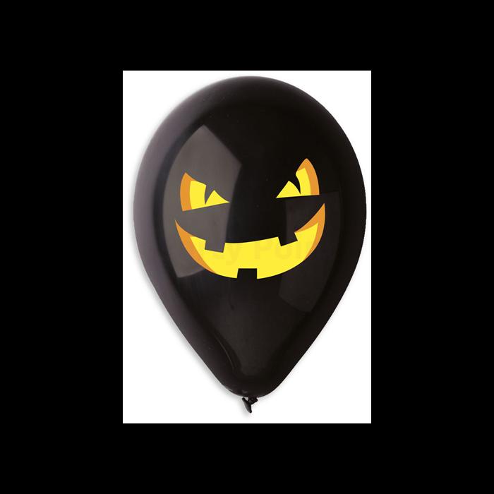 30 cm-es Halloween tökös printelt léggömb 10 db/cs.