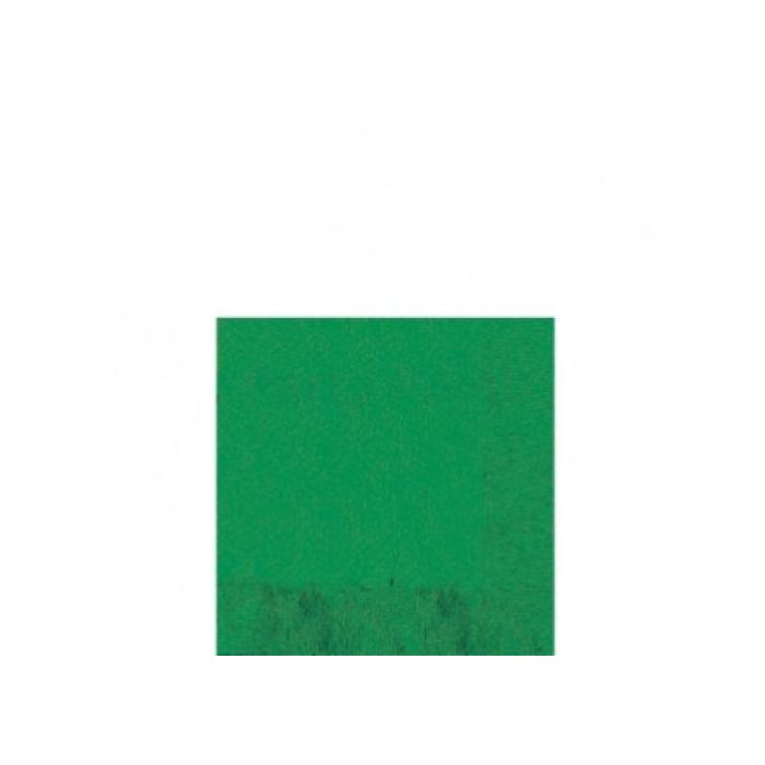 Sötétzöld szalvéta 33x33 cm háromrétegű 20 db/cs