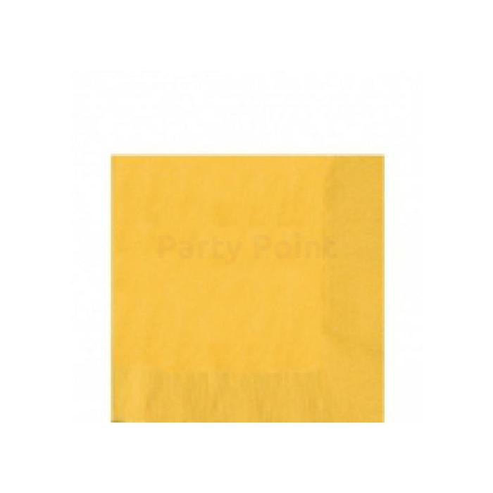 Sárga szalvéta 33 x 33 cm háromrétegű 20 db/cs