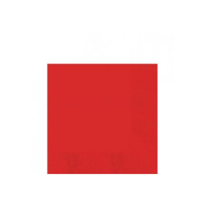Piros szalvéta háromrétegű, 33 x 33 cm - 20 db