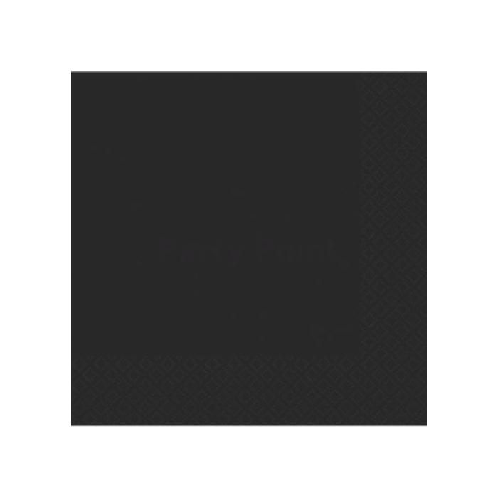 Fekete, kétrétegű szalvéta 33x33 cm 50 db/cs