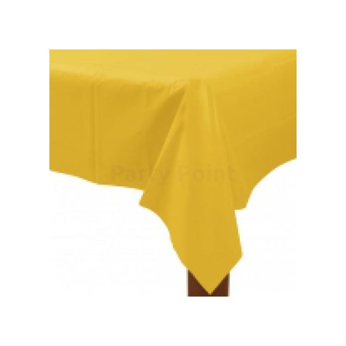 Sárga műanyag asztalterítő