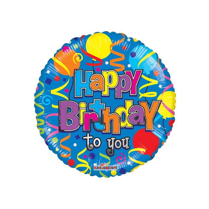 45 cm-es Happy Birthday to you kék fólia lufi