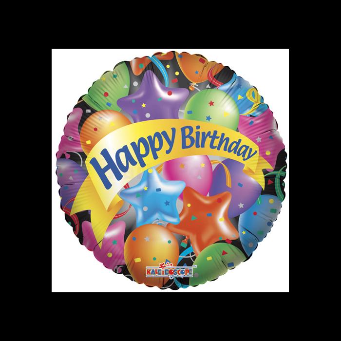 SuperShape - Happy Birthday csillagos fólia lufi