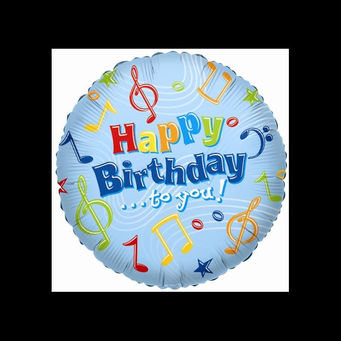 45 cm-es Happy Birthday to you fólia lufi