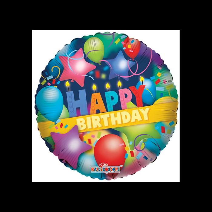 23 cm-es Happy Birthday fólia lufi