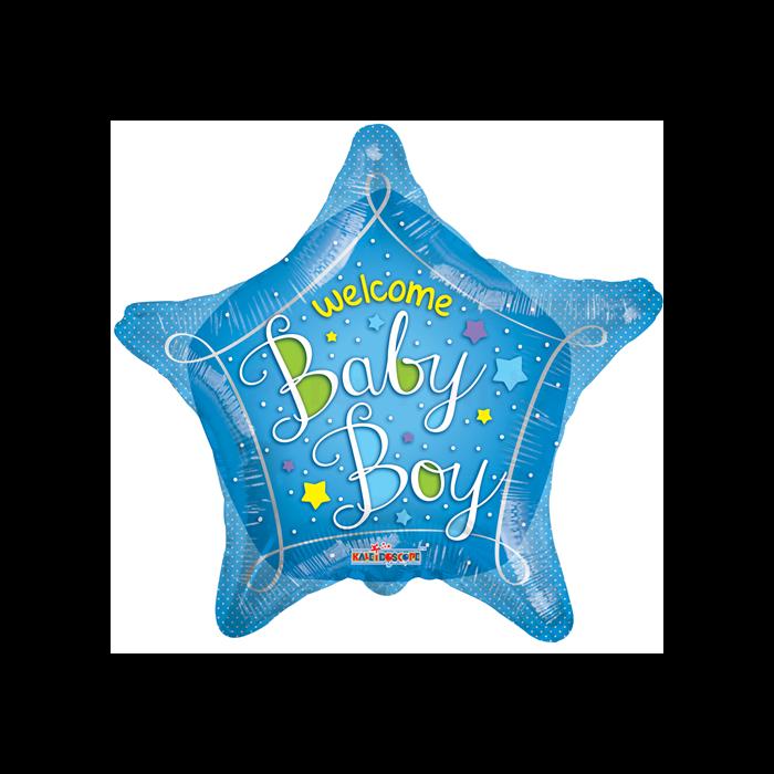 45 cm-es Welcome baby csillag fólia lufi