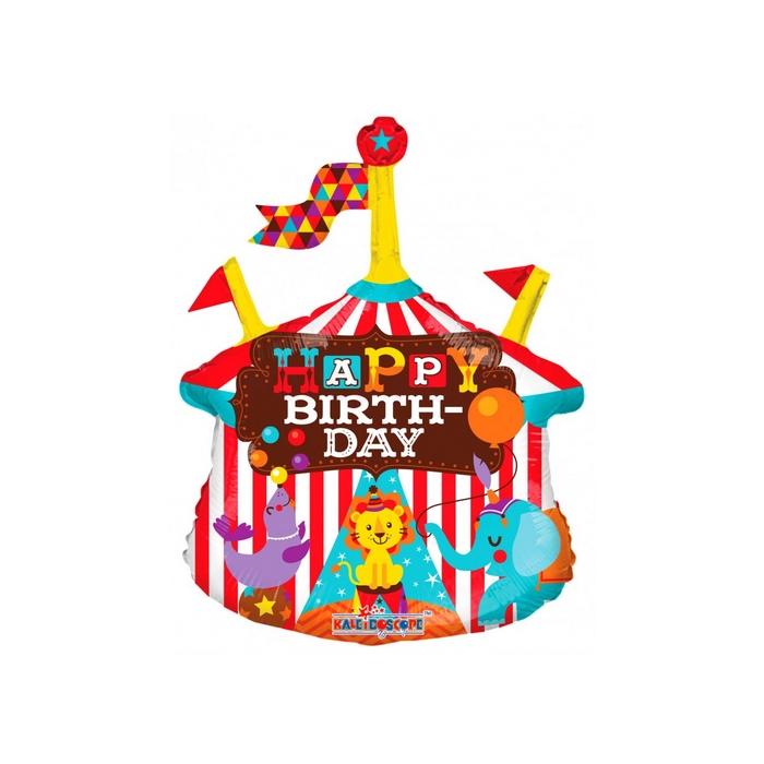 MiniShape - Birthday cirkuszos fólia lufi