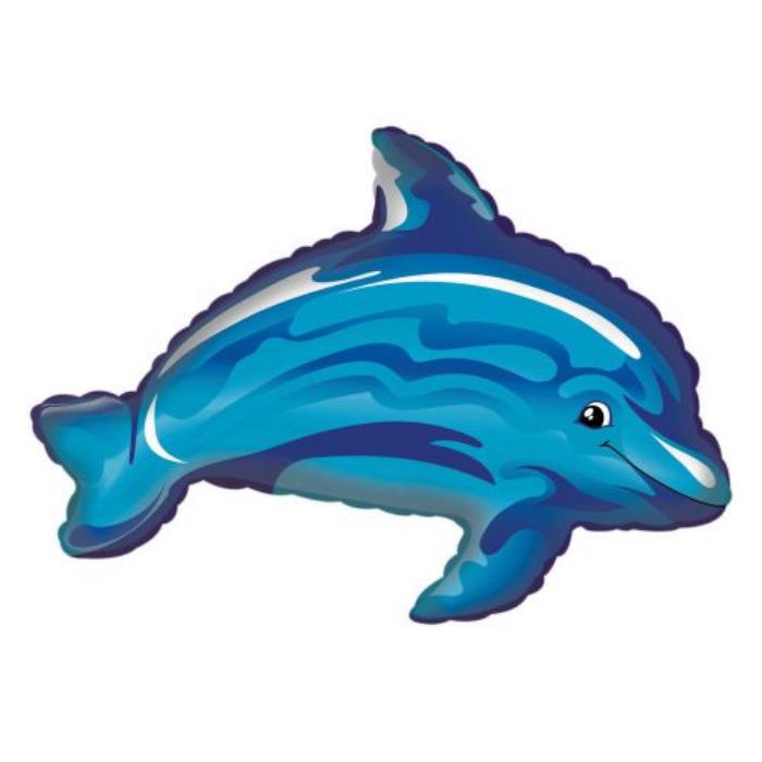 JumboShape -  Kék delfin fólia lufi