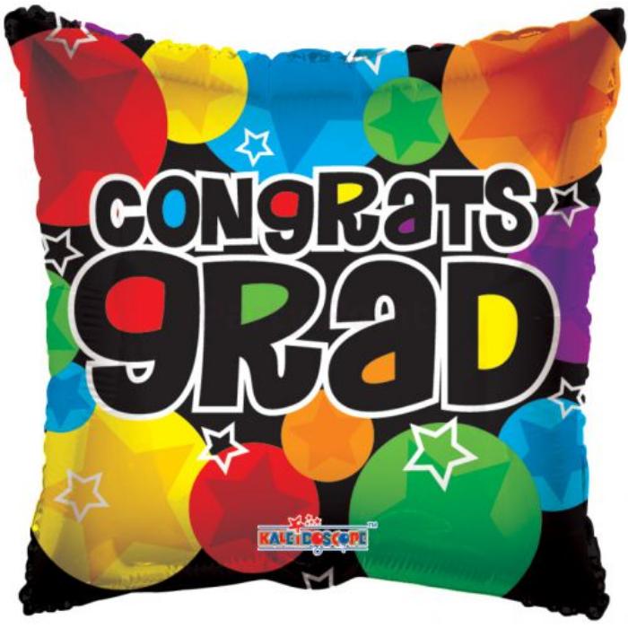 45 cm-es Congrats Grad szögletes fólia lufi