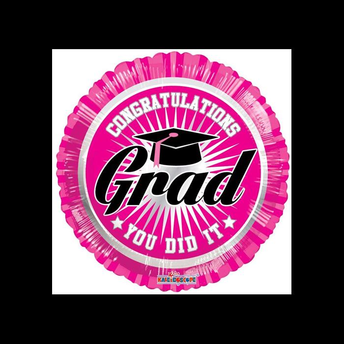 45 cm-es Congratulations You did it - pink fólia lufi
