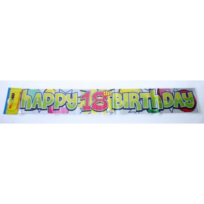 Happy 18. Birthday fólia felirat, 360 cm