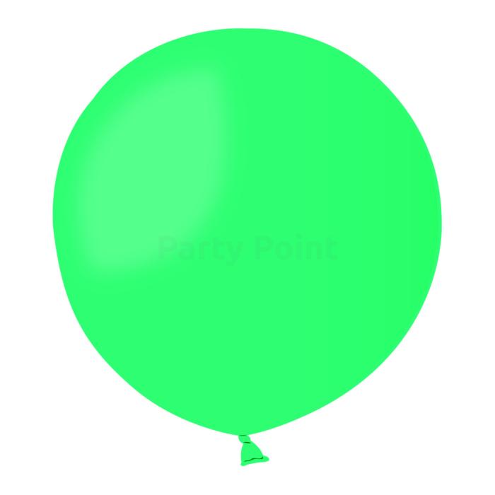 70 cm-es zöld gumi léggömb