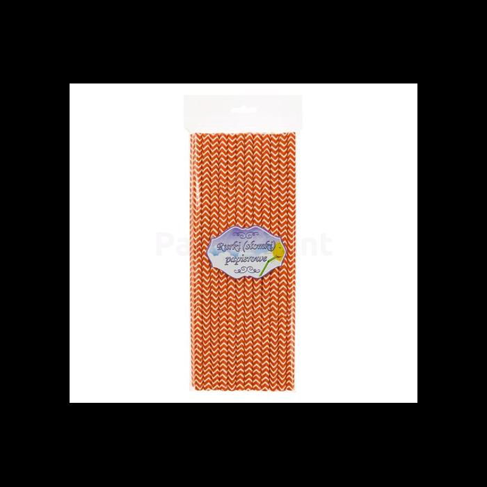 Narancssárga hullámos papírszívószál 24 db/cs 6 x 197 mm