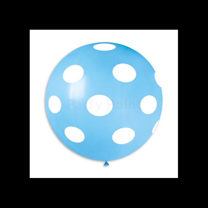 80 cm-es babakék pöttyös kék gumi léggömb