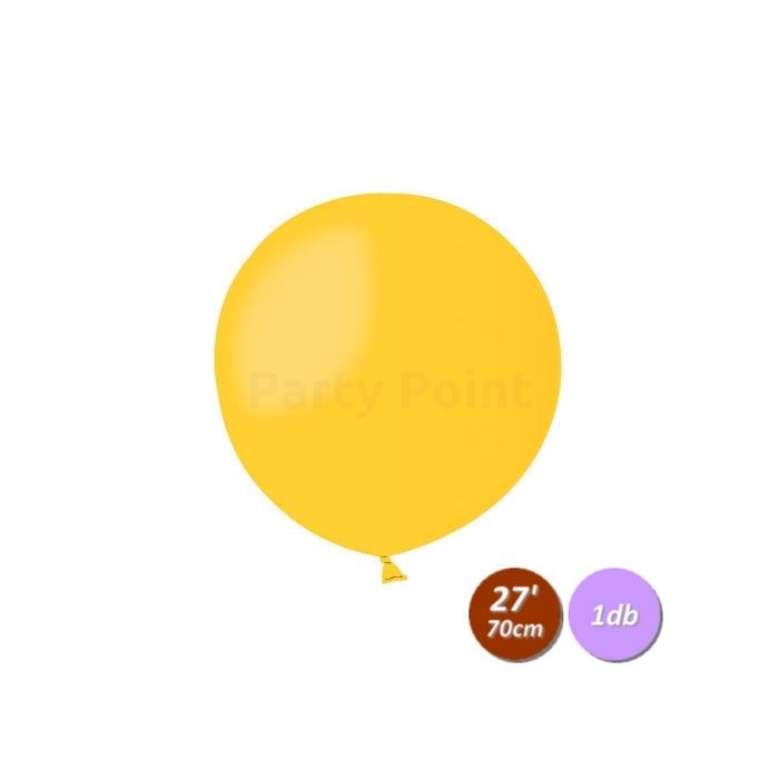 70 cm-es citromsárga gumi léggömb