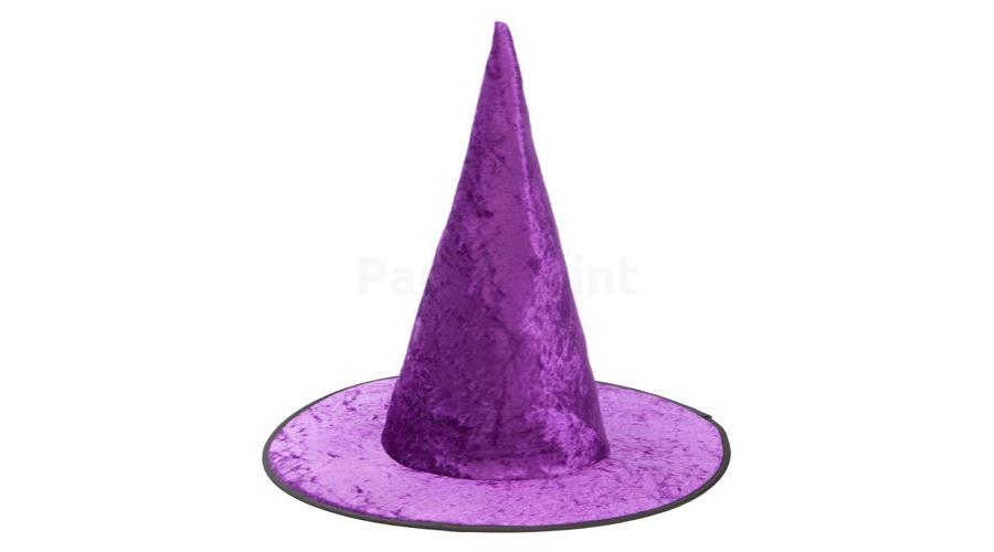 Lila bársony boszorkány kalap - Kalap 8001579745
