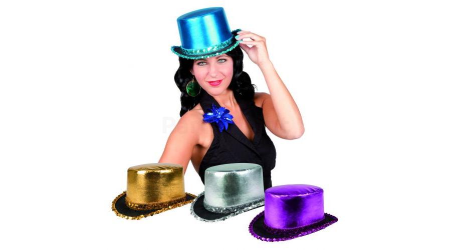Fényes flitteres női kalap különböző színekben - Kalap e30092a191